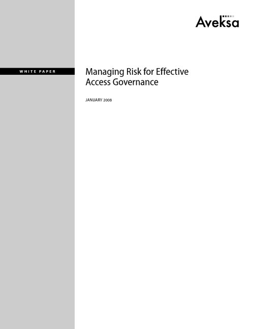 Managing Risk for Effective Access Governance