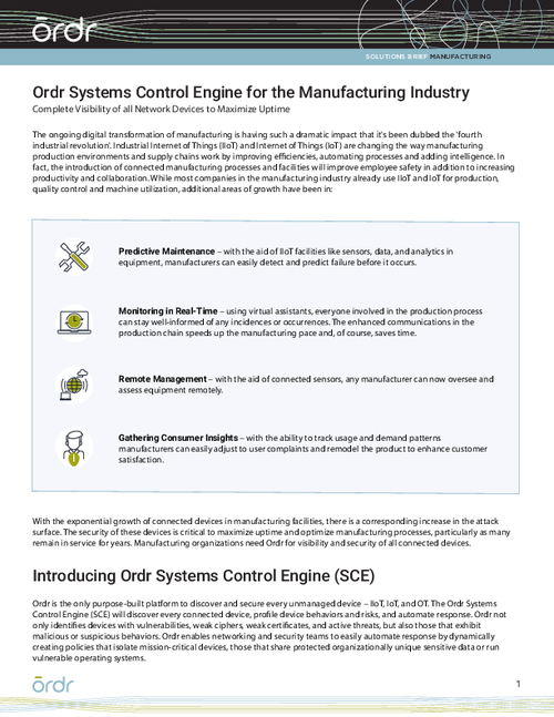 Manufacturing Solution Brief
