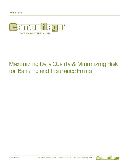 Maximizing Data Quality & Minimizing Risk for Banking Institutions