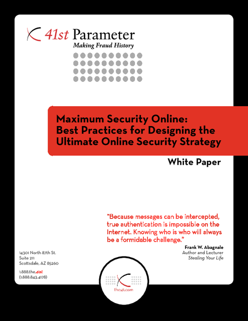Maximum Security Online: Best Practices for Designing the Ultimate online Security Strategy