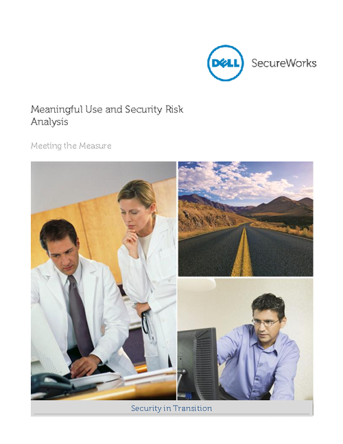 Meaningful Use and Security Risk Analysis: Meeting the Measure