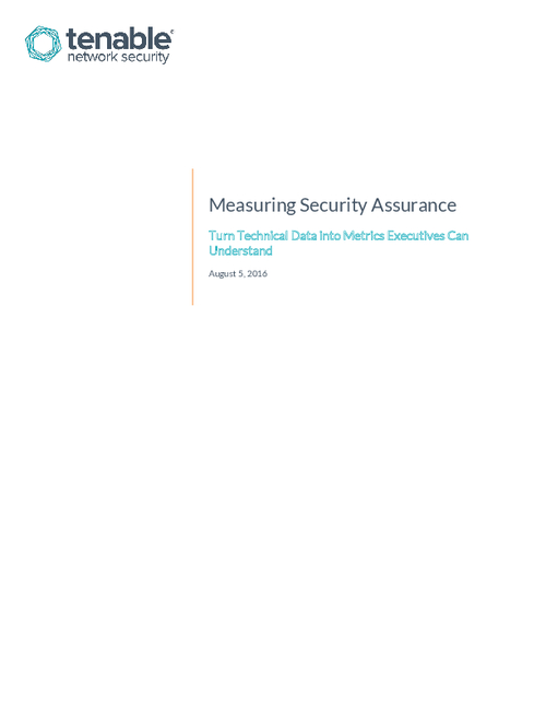 Measuring Security Assurance