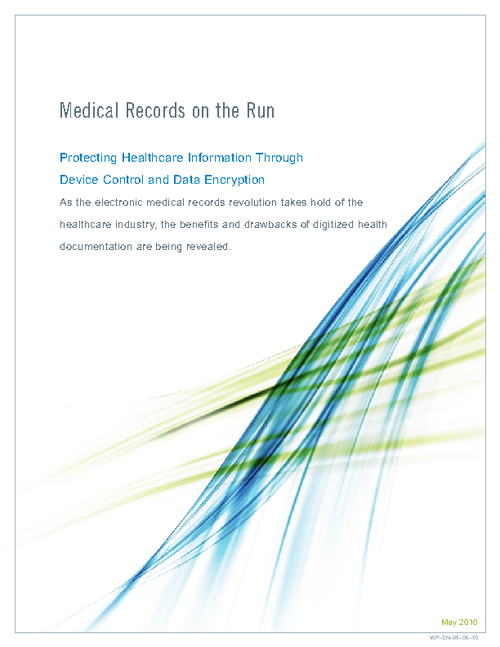 Medical Records on the Run: Protecting Healthcare Information Through Device Control and Data Encryption