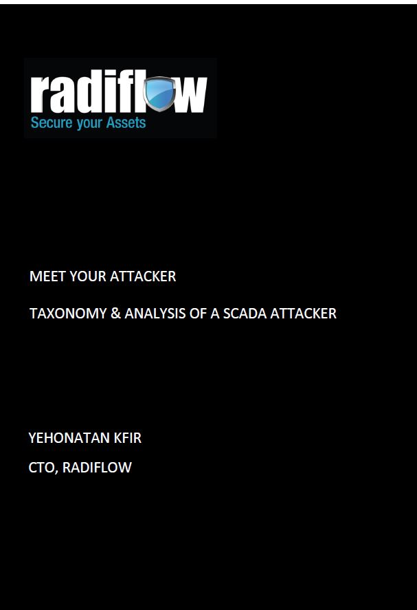 Meet Your Attacker: Taxonomy & Analysis of a SCADA Attacker