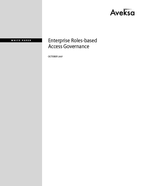 Meeting the Challenges of Roles-based Access Governance