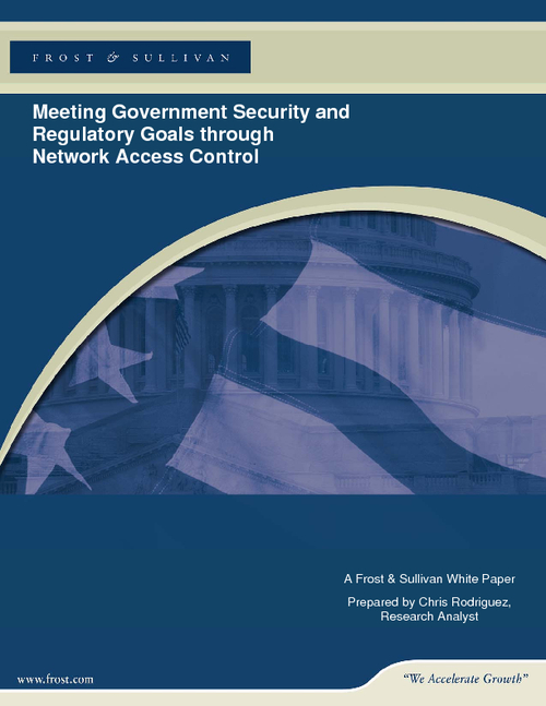 Meeting Government Security and Regulatory Goals through Network Access Control