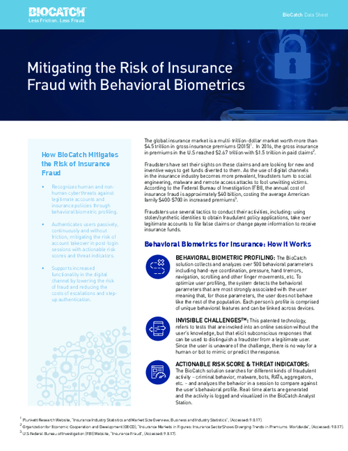 Mitigating the Risk of Insurance Fraud