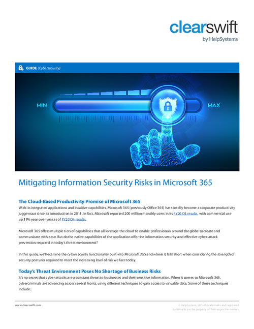 Mitigating Security Risks in Microsoft 365
