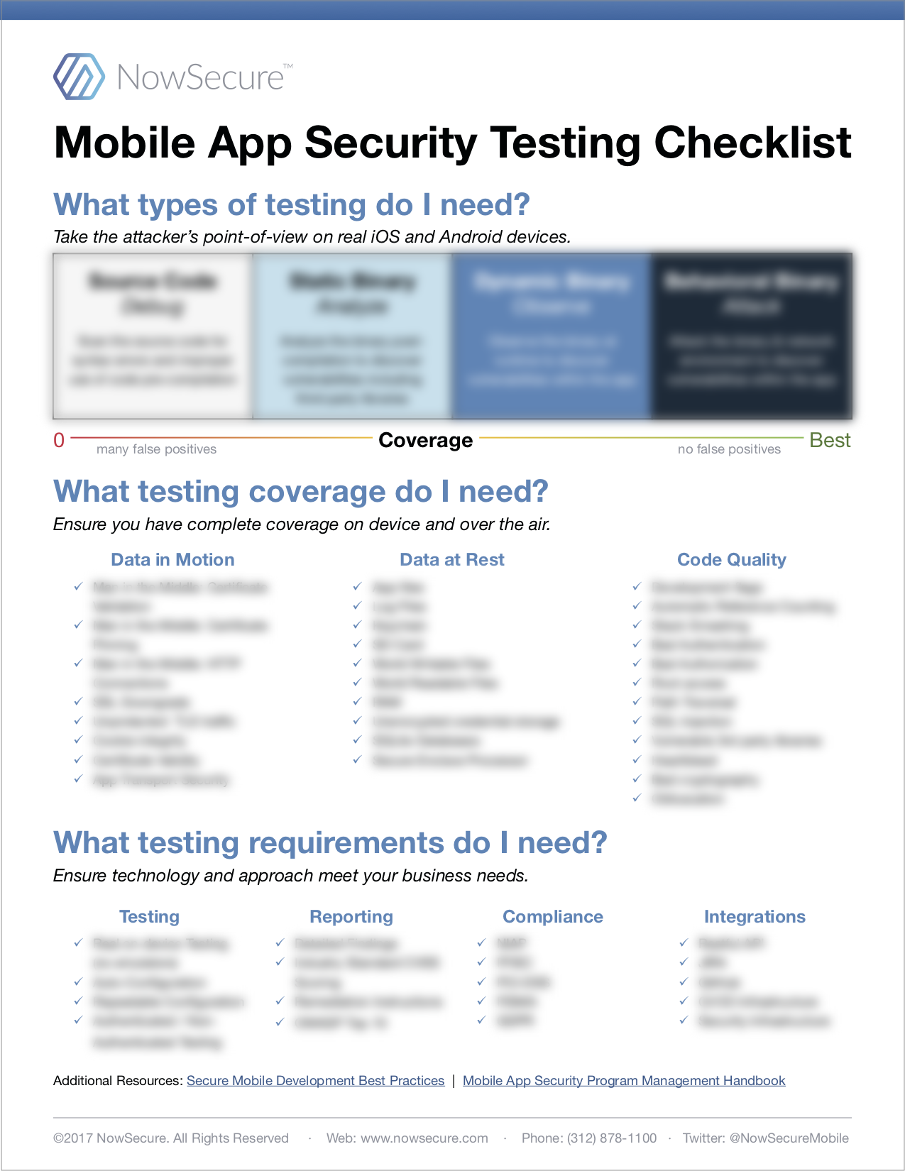 Mobile App Security Testing Checklist