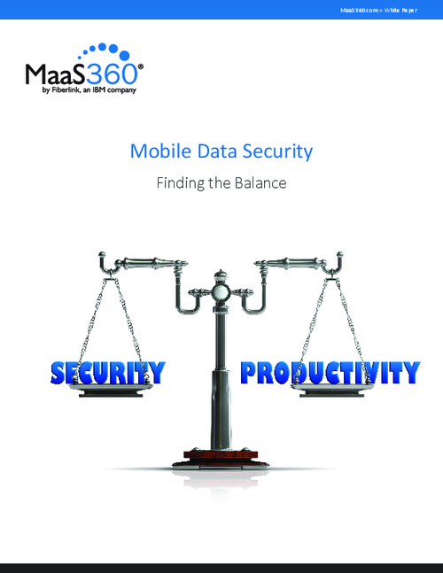 Mobile Data Security - Finding the Balance