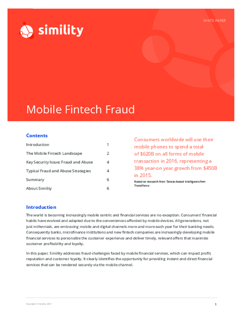 Mobile Fintech Fraud