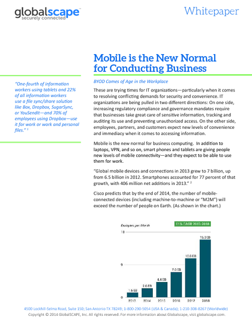 Mobile is the New Normal for Conducting Business