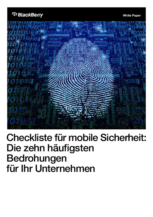 A Mobile Security Checklist: The Top Ten Threats to Your Enterprise Today