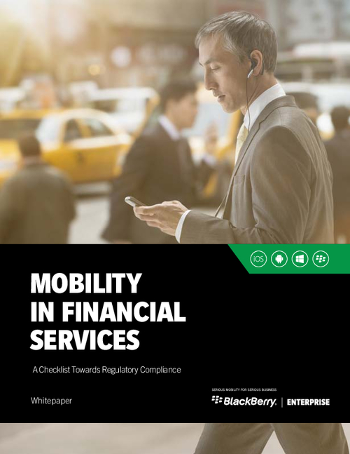 Mobility in Financial Services: A Checklist Towards Regulatory Compliance