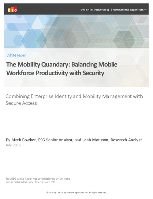 The Mobility Quandary: Balancing Mobile Workforce Productivity with Security