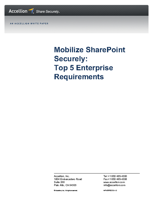 Mobilize SharePoint Securely: Top 5 Enterprise Requirements