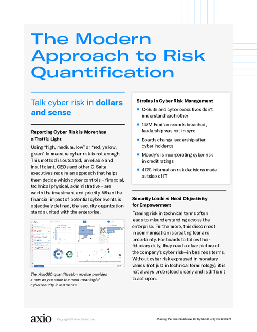 The Modern Approach to Risk Quantification