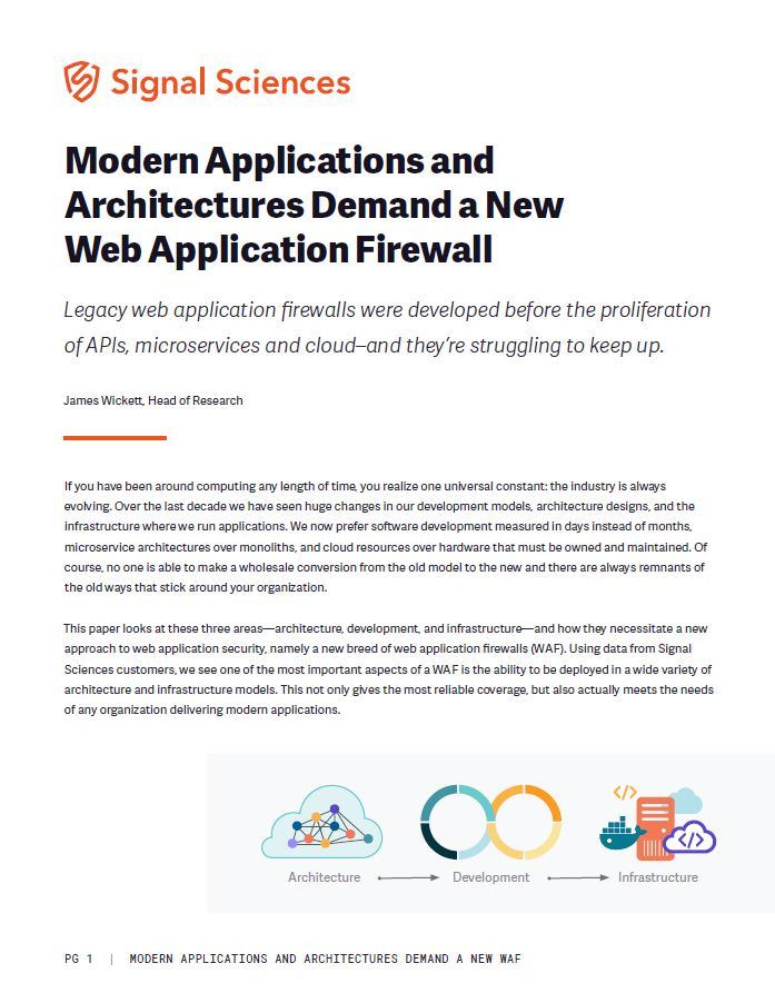 Modern Architectures Require a New Web Application Firewall (WAF)