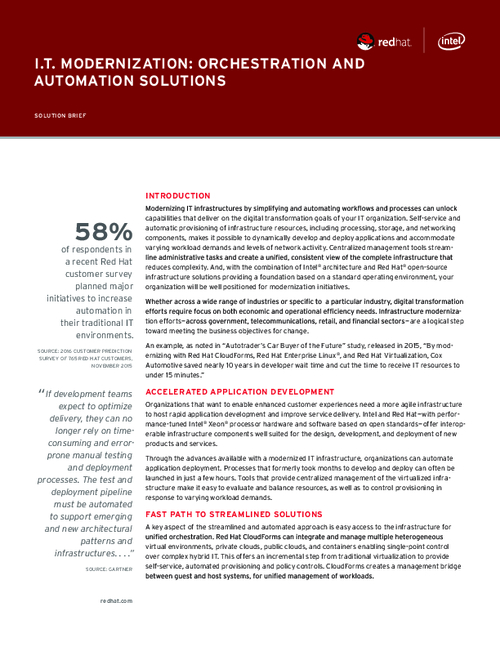 IT Modernization: Orchestration and Automation