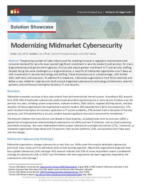 Modernizing Midmarket Cybersecurity