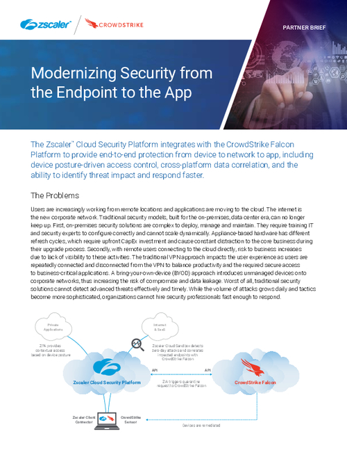 Modernizing Security from the Endpoint to the App