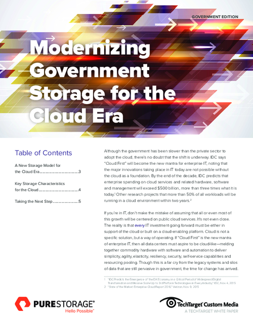 Modernizing Storage for the Cloud Era