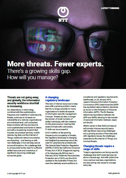 More Threats. Fewer Experts. How Will You Manage?