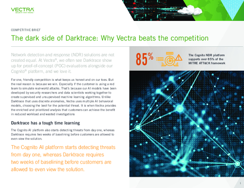NDR Competitive Brief: Darktrace vs. Vectra