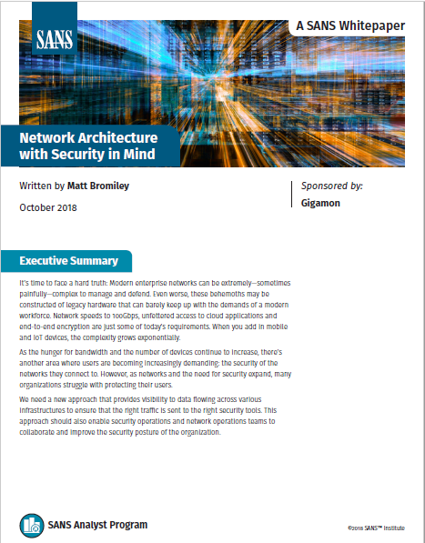 Network Architecture with Security in Mind