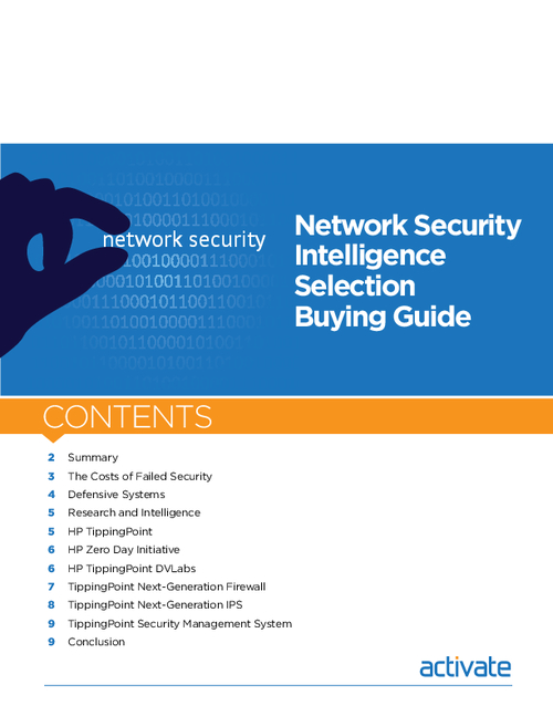 Network Security Intelligence Selection Buying Guide