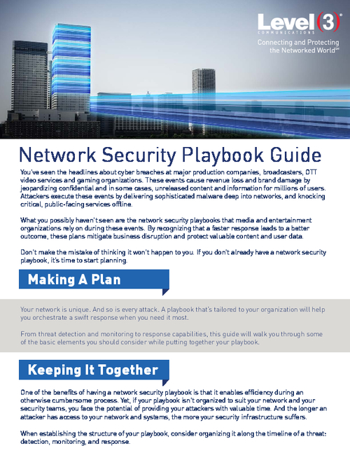 Detect, Monitor and Respond Effectively with Your Network Security Playbook
