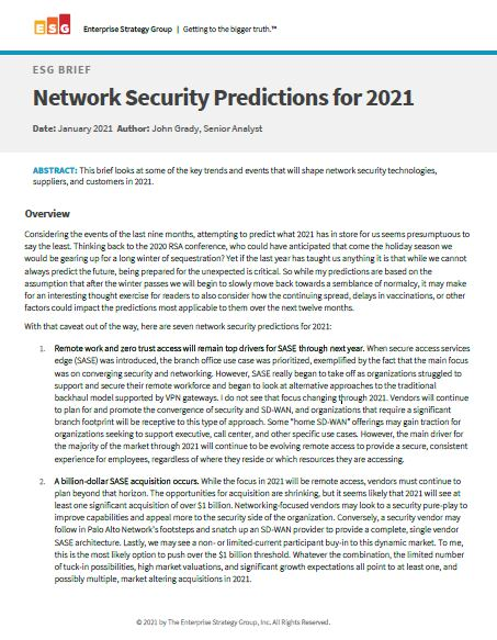 Network Security Predictions for 2021