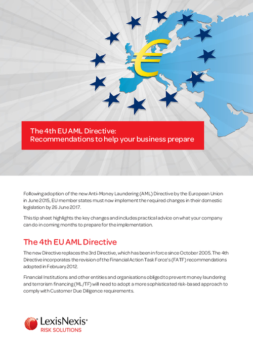 The 4th EU AML Directive: Recommendations To Help Your Business Prepare