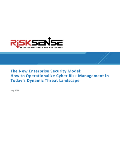 The New Enterprise Security Model: Cyber Risk Management