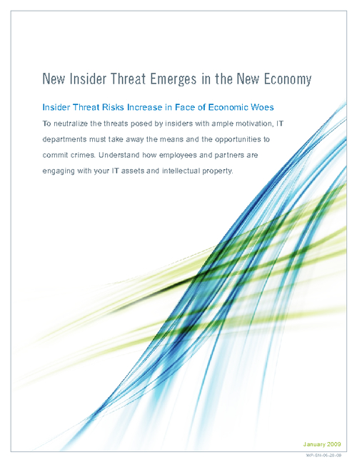 New Insider Threat Emerges in the New Economy