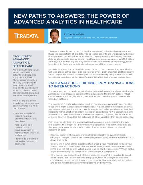 The Power Of Advanced Analytics In Healthcare
