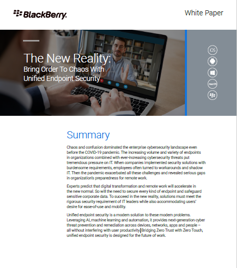 The New Reality: Bring Order to Chaos with Unified Endpoint Security