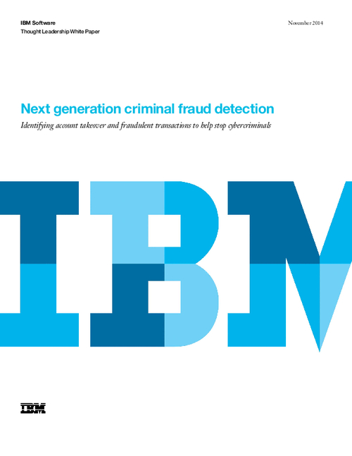 Next Generation Criminal Fraud Detection
