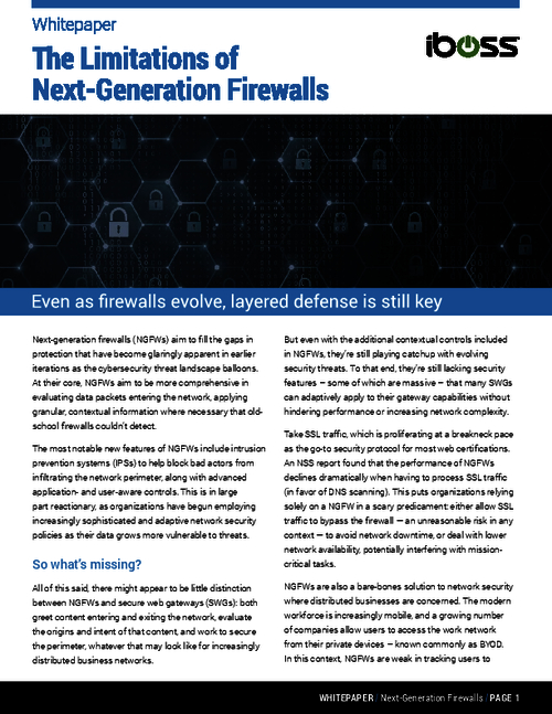 The Role of Next-Generation Firewalls in a Layered Cybersecurity Strategy