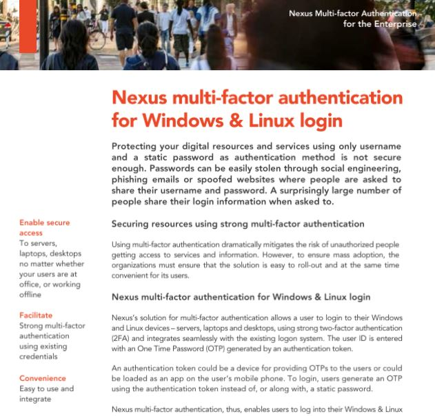 Protect Your Windows and Linux Devices With The Right Authentication Solution