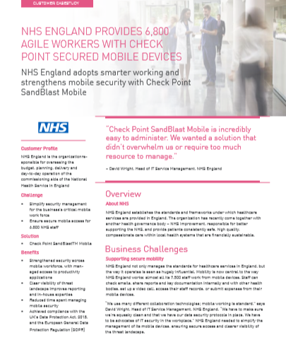 NHS England Provides 6,800 Agile Workers with Secured Mobile Devices