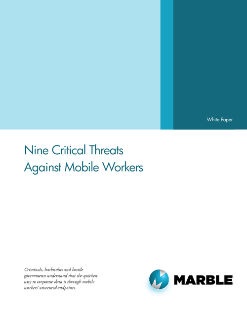Nine Critical Threats Against Mobile Workers