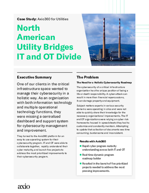 North American Utility Bridges IT and OT Divide