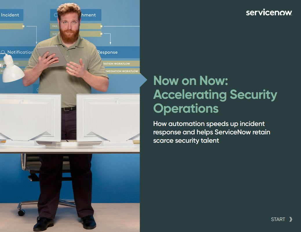 Now on Now: Accelerating Security Operations
