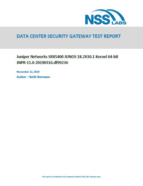 NSS Labs' 2019 Data Center Security Gateway Test Report