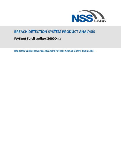 NSS Labs Breach Detection Report