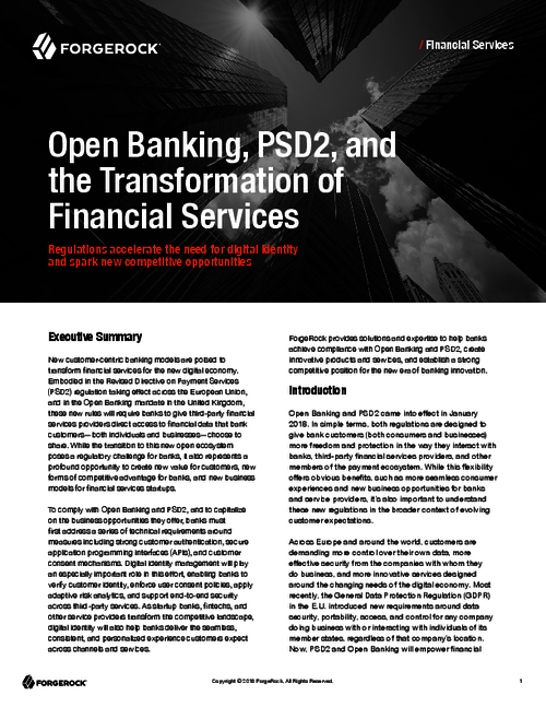 Open Banking, PSD2, and The Transformation of Financial Services