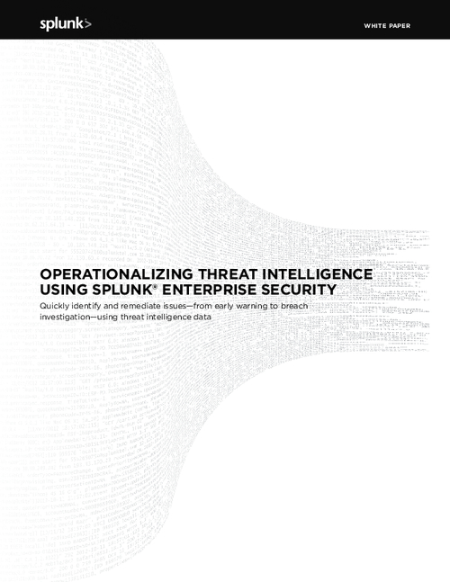 Operationalizing Threat Intelligence Using Splunk Enterprise Security