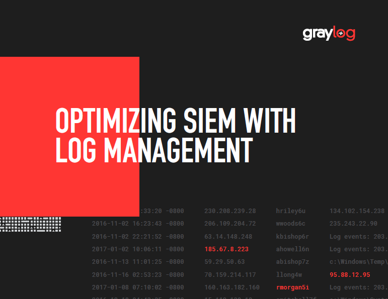 Optimizing SIEM with Log Management