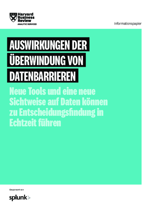 Overcoming Barriers to Data Impact: New Tools and a New Data Mindset Can Bring About Real-Time Decision-Making (German Version)